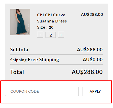 How do I use my Chi Chi London discount code?