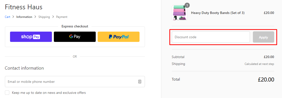 How do I use my Fitness Haus discount code?