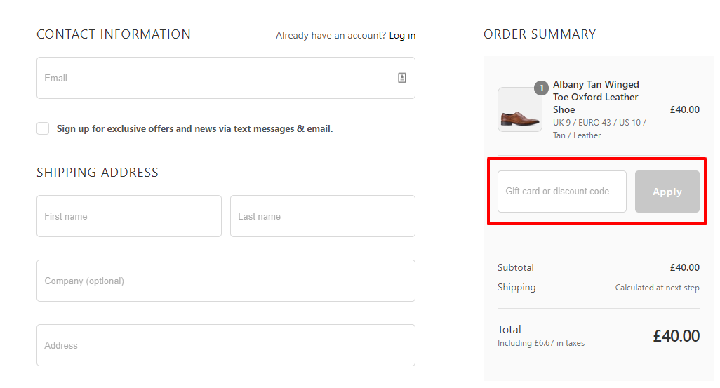 How do I use my Goodwin Smith discount code?