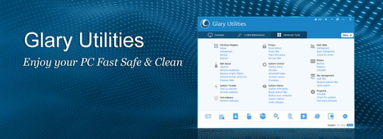 About Glarysoft homepage