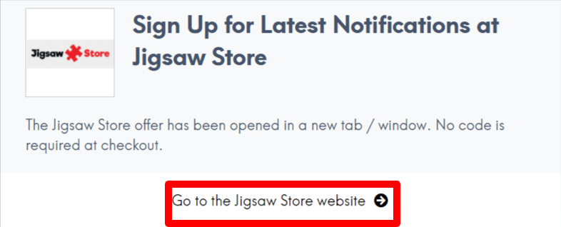 Jigsaw Store AU Promo and Coupon Codes LC Site