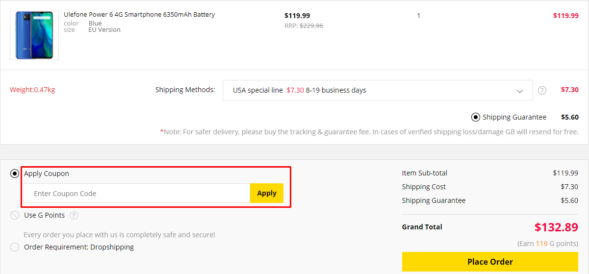 How do I use my Gearbest coupon code?