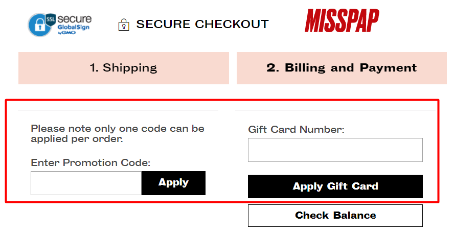 How do I use my Misspap discount code?