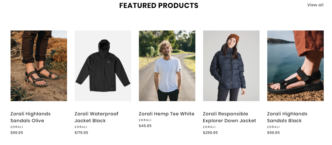 AdventureCo Featured Products