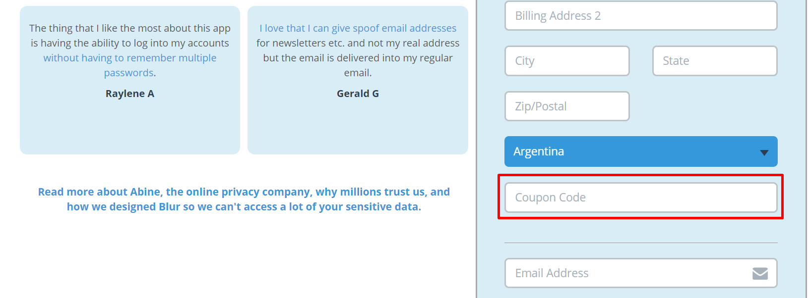 How do I use my Abine coupon code?