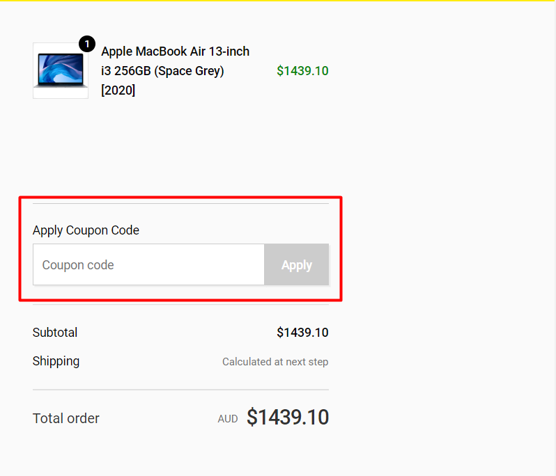 Hos do I use my JB Hi-Fi coupon code?