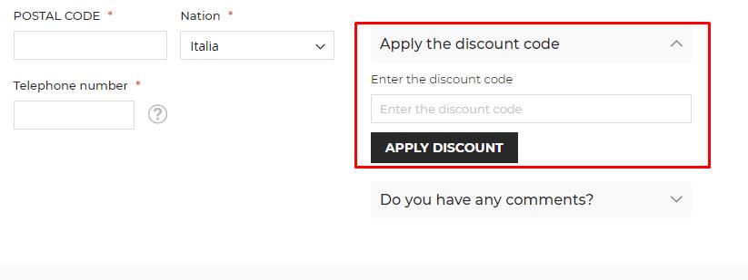 How do I use my Bertini discount code?