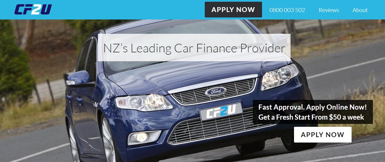 Car Finance 2U Homepage