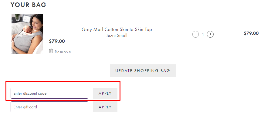 How do I use my Seraphine discount code?