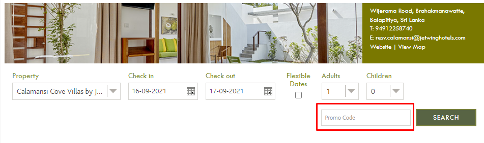 How do I use my Jetwing Hotels promo code?