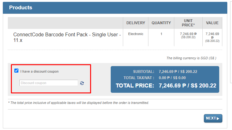 How do I use my BarcodeResource discount code?