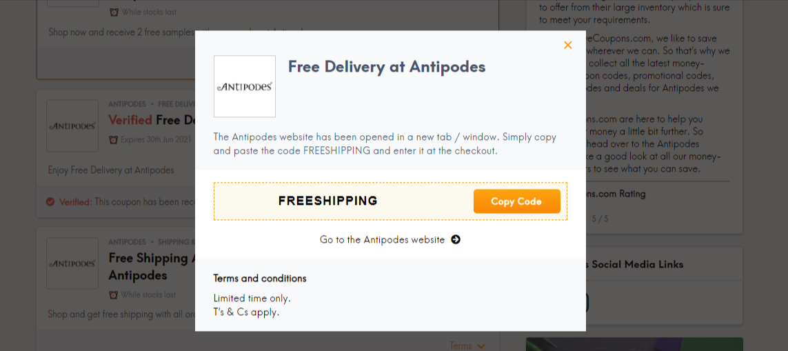 Antipodes LC CODE