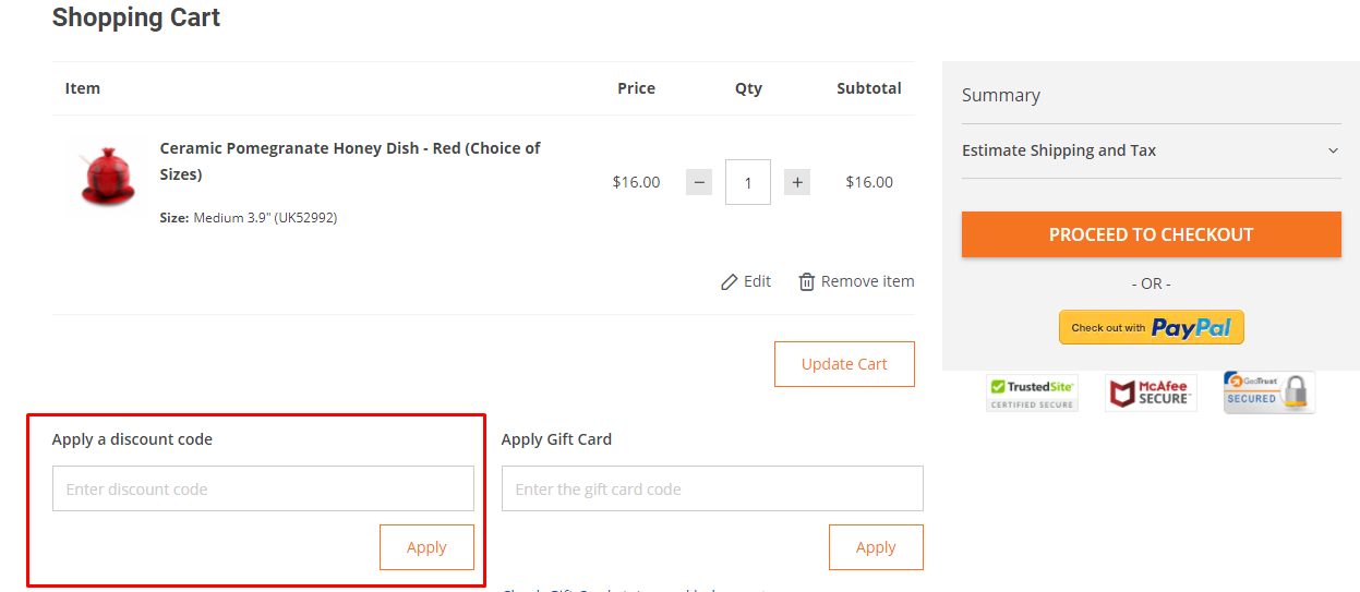 How do I use my Judaica WebStore discount code?