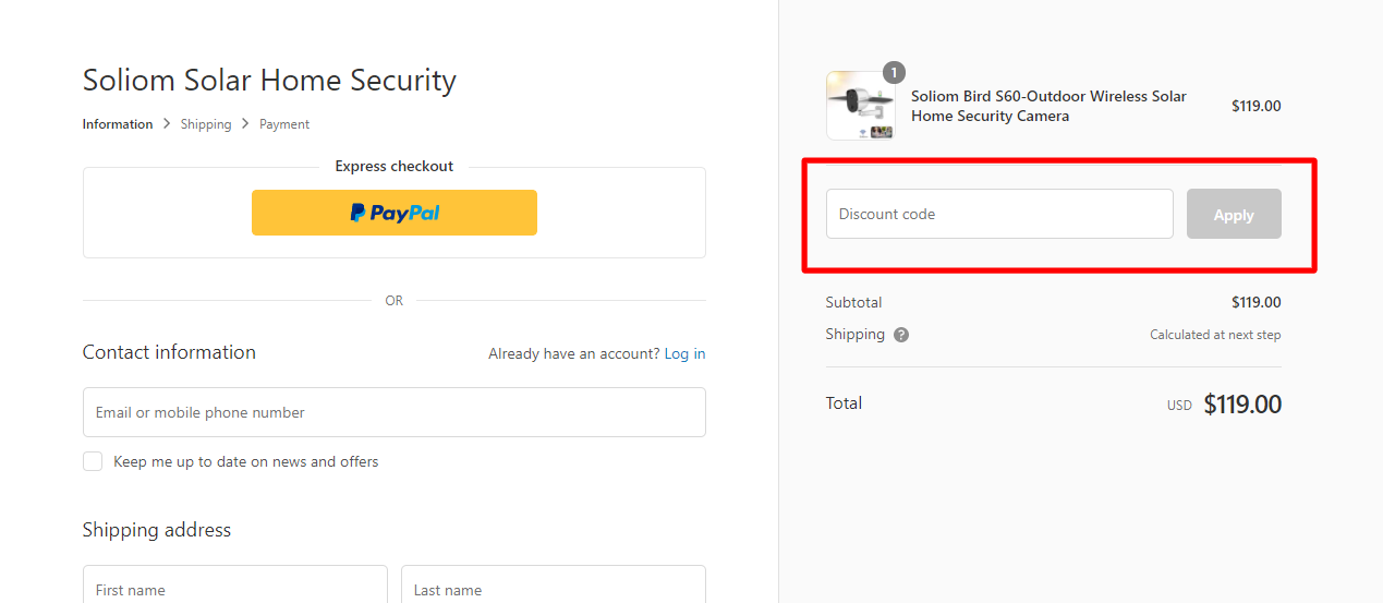 How do I use my SOLIOM discount code?