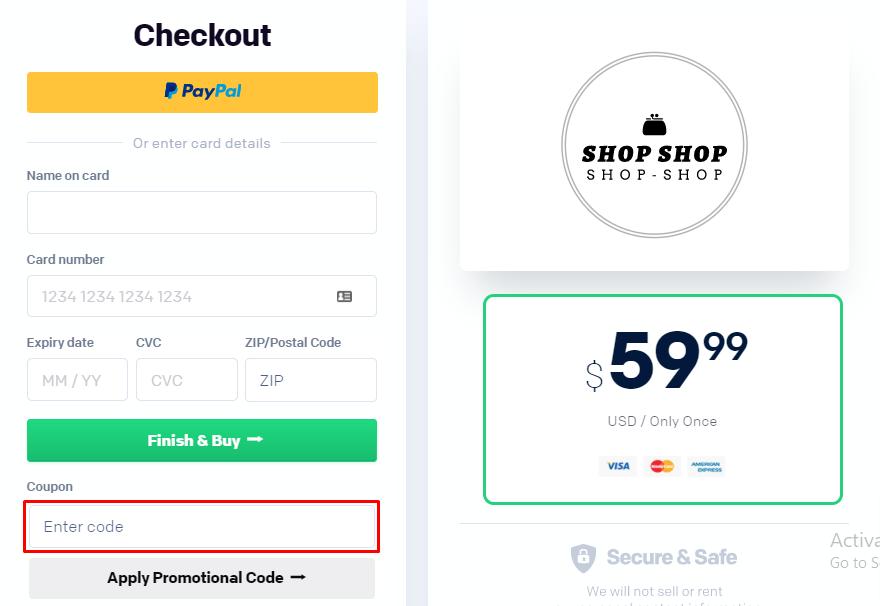 How do I use my Logo.com coupon code?