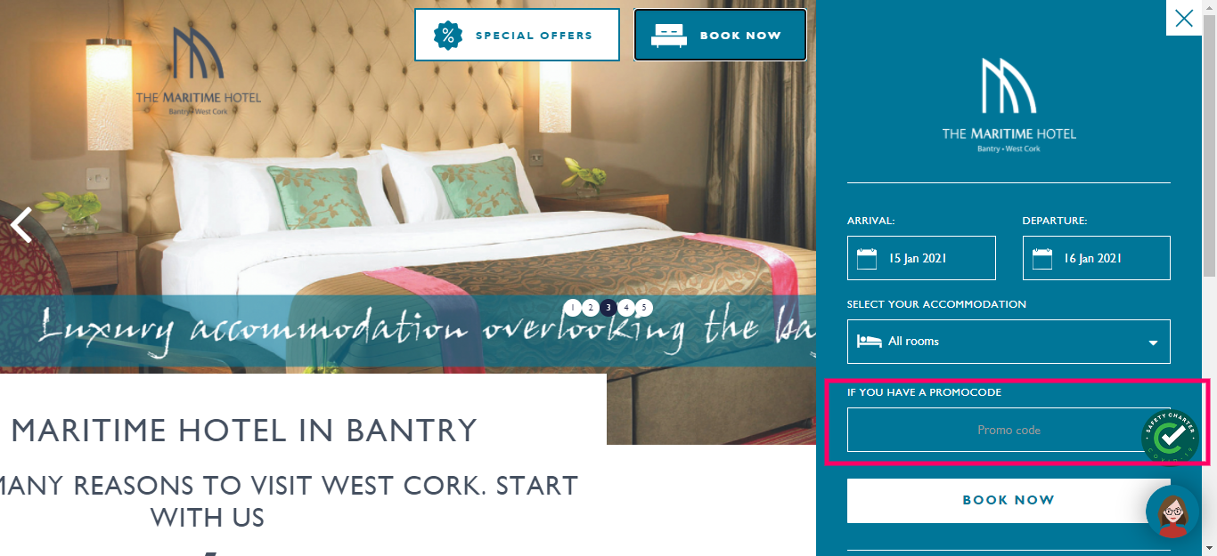 How do I use my The Maritime Hotel Promo Code
