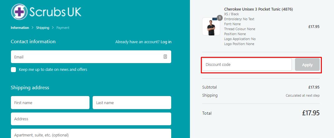 How do I use my Scrubs UK discount code?