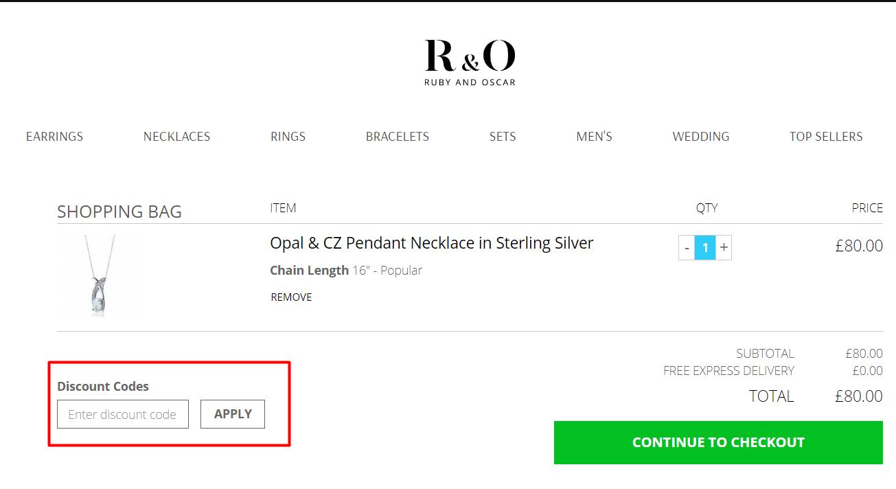 How do I use my Ruby & Oscar discount code?