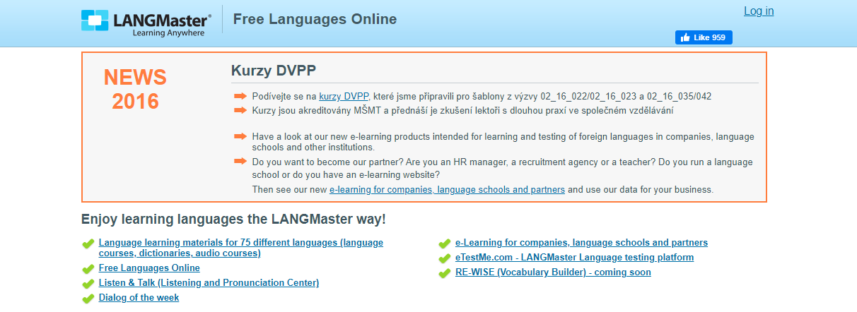 About Free Languages Online Homepage