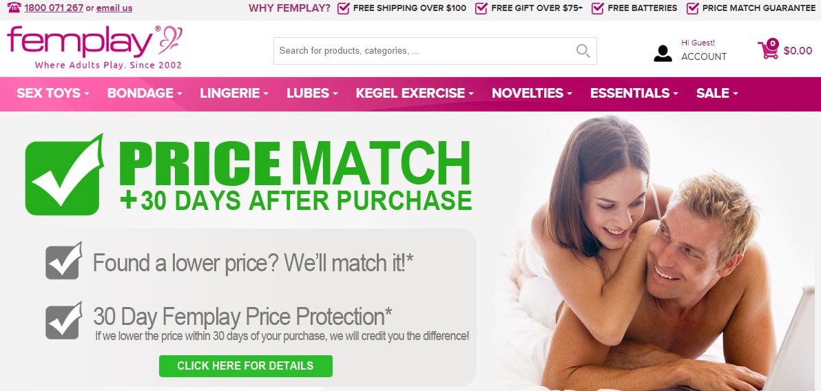 Femplay Homepage