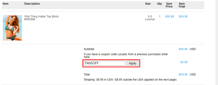 How do I use my Cooltan Sportswear coupon code?