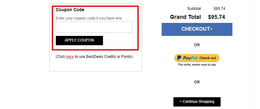 How do I use my BestDeals discount code?