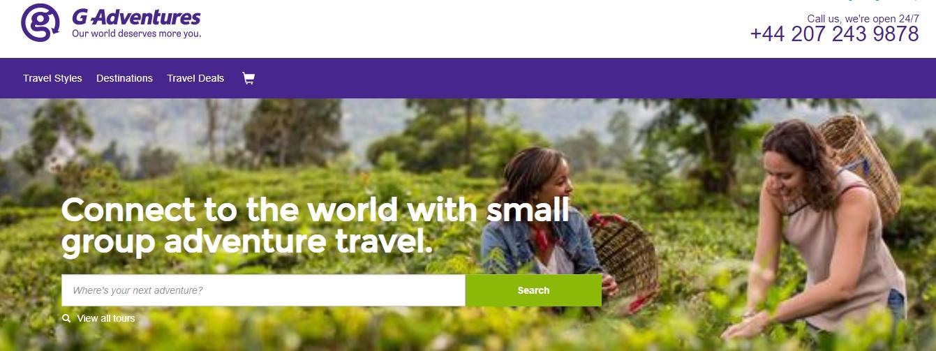 G Adventures Homepage