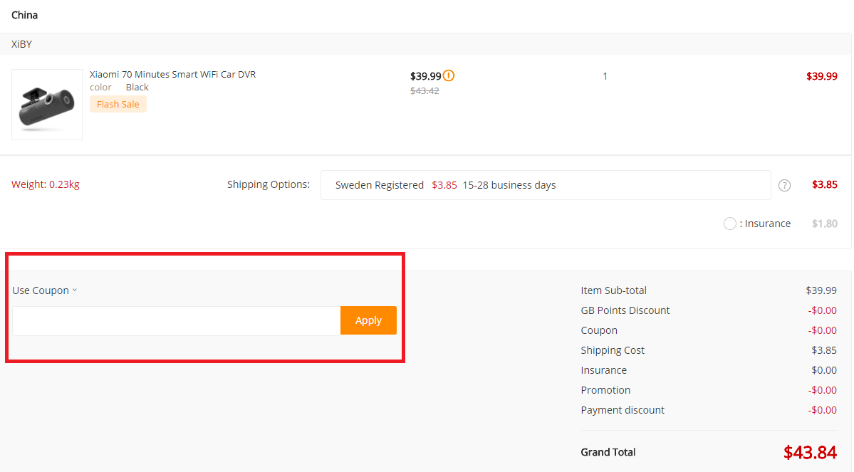 How to use a GearBest discount coupon code