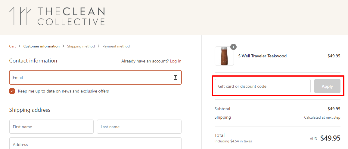 How do I use my The Clean Collective discount code