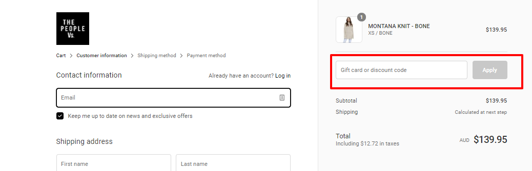 How do I use my The People Vs discount code