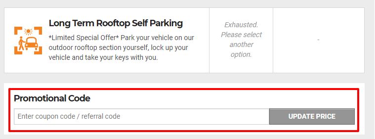How do I use my Ace Airport Parking discount code