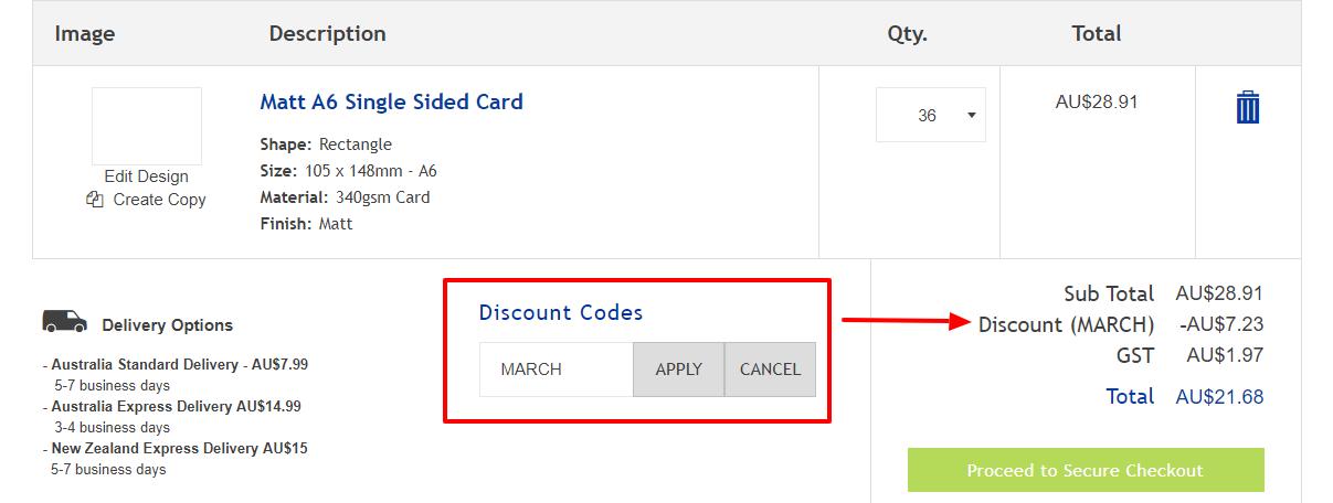 How do I use my Avery discount code