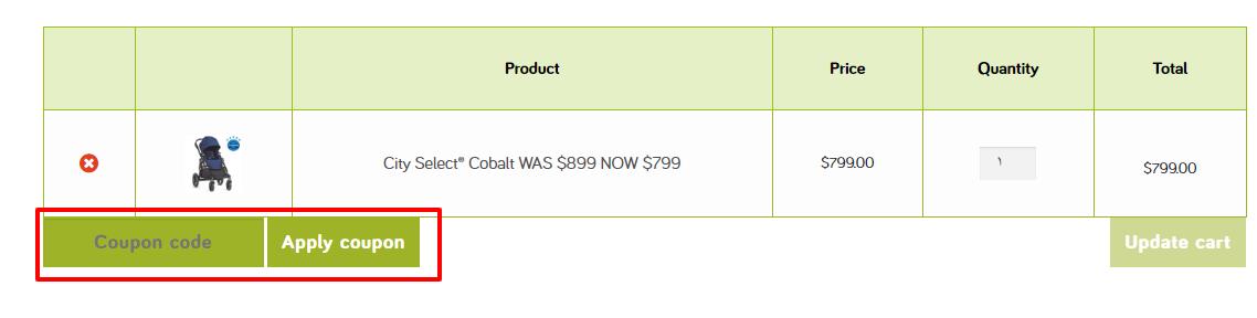 How do I use my Baby Jogger Australia discount code