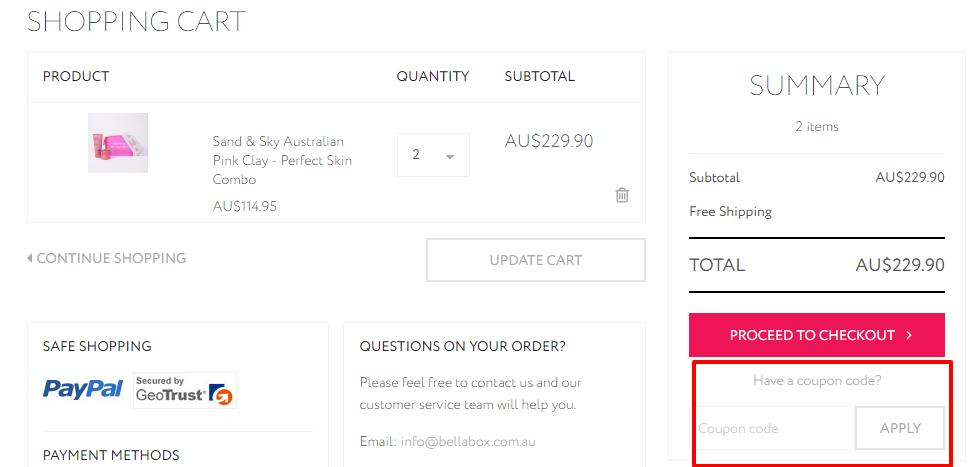 How do I use my Bellabox discount code