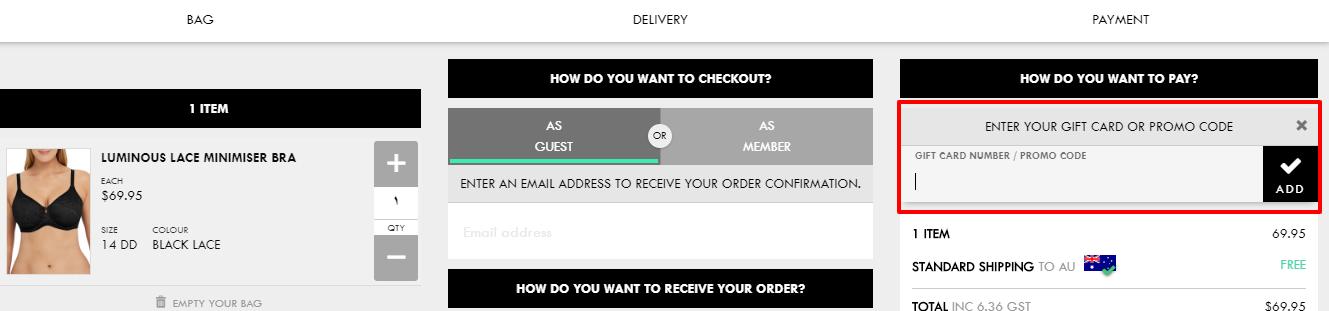 How do I use my Berlei discount code