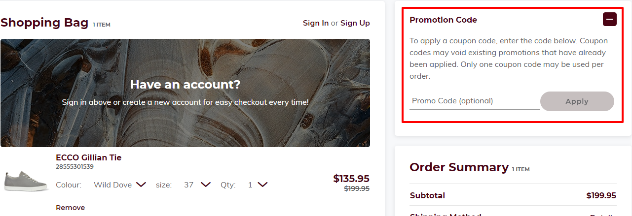 How do I use my Ecco Shoes Pacific discount code