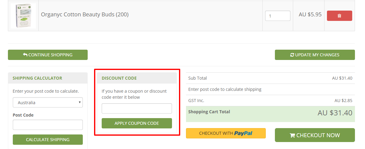 How do I use my Flora and Fauna discount code