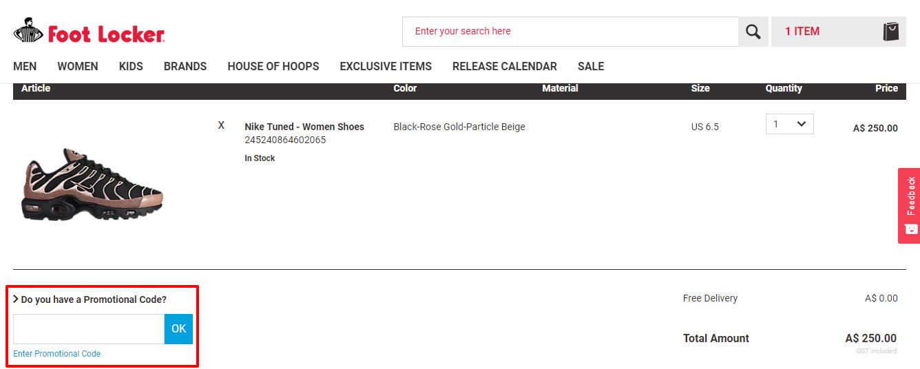 How do I use my Foot Locker discount code