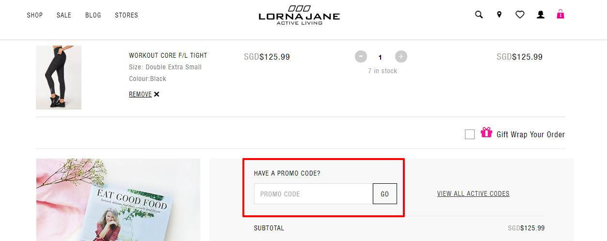 How do I use my Lorna Jane discount code