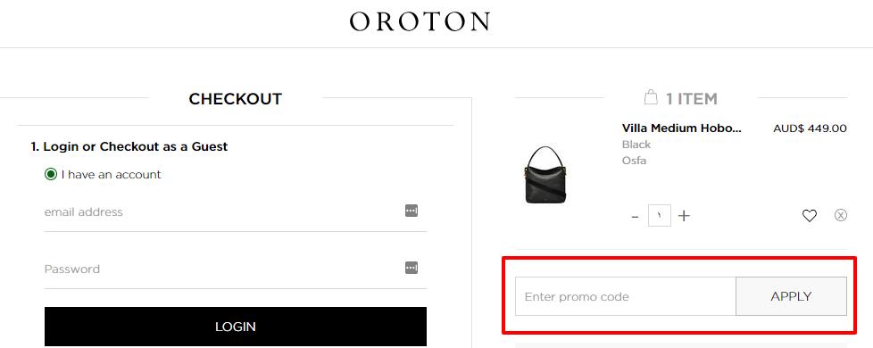 How do I use my Oroton discount code