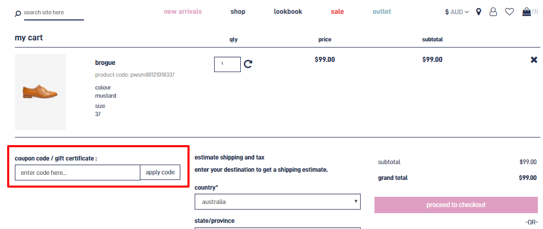 How do I use my Princess Highway discount code