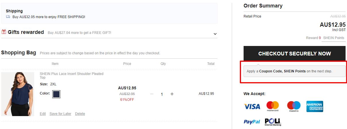 How do I use my SHEIN discount code