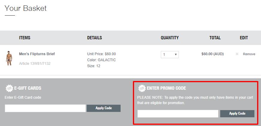How do I use my Speedo discount code