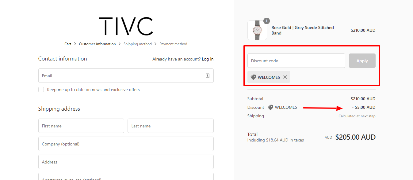How do I use my Time IV Change discount code?