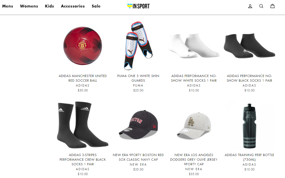 INSPORT Accessories Page