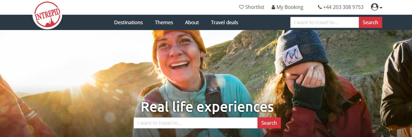 Intrepid Travel Homepage