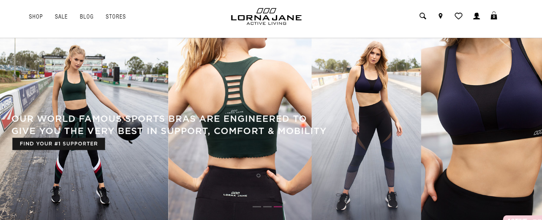 Lorna Jane Homepage