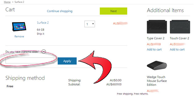 How to use a Microsoft discount coupon code