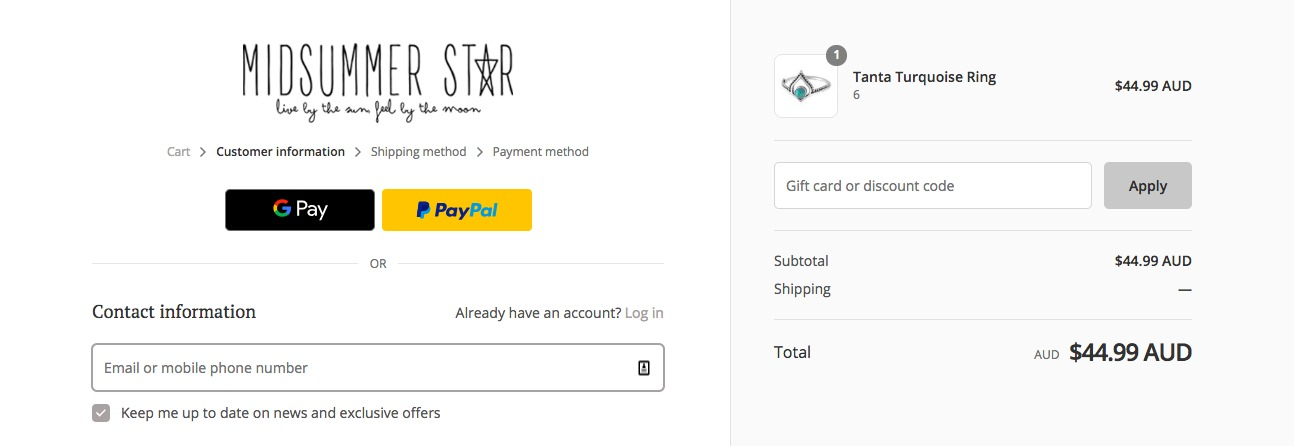 How to use a midsummer star discount coupon code