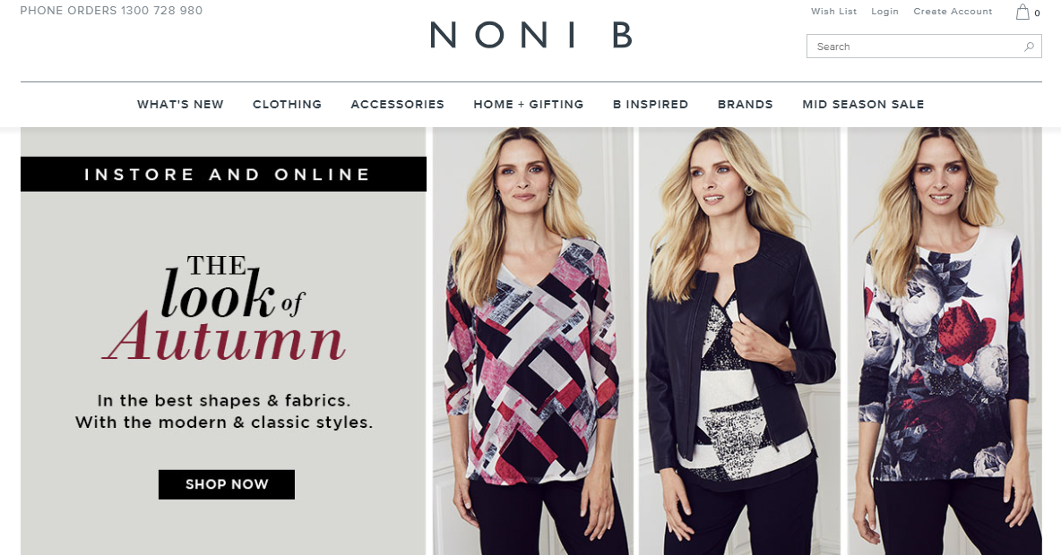 Noni B Homepage